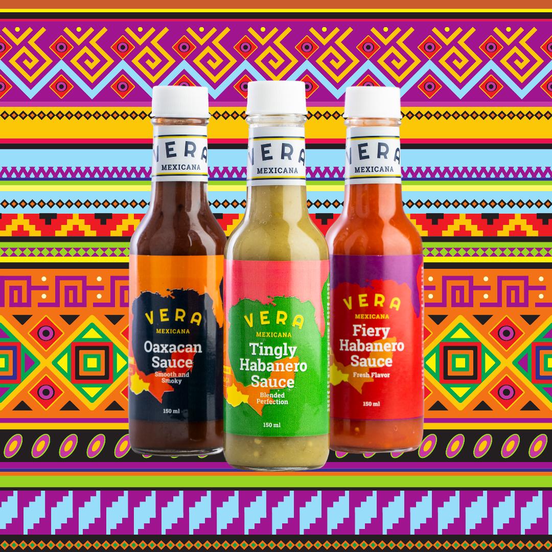 3 salsaer, håndlagde fra kvalitetsprodusenter i Mexico – som setter en spiss og temperatur på hvert et måltid!